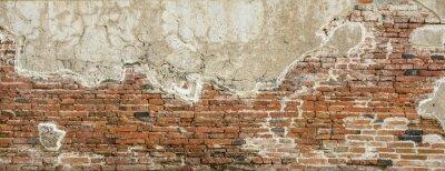 Fototapeta Red brick wall texture background,brick wall texture for for interior or exterior design backdrop,vintage tone.