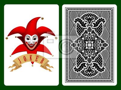 Red Joker Karta Do Gry Fototapeta Fototapety Szczupak Zartownis