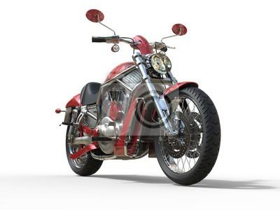 Fototapeta Red Roadster Bike - Widok z przodu