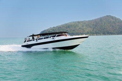 Fototapeta Rejs prędkość łodzi na Morzu Andamańskim, Tajlandia