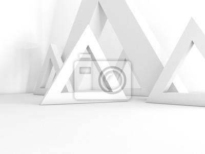 Fototapeta renderowania 3D puste wnętrze