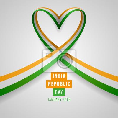 Fototapeta Republic of India Independence Day Vector Template Design Illustration