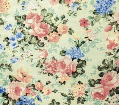 Fototapeta Retro koronki kwiatowy szwu tle białym tkaniny Vintage Style