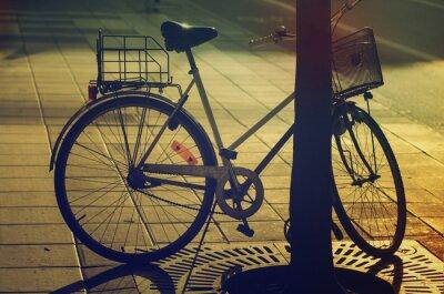 Fototapeta Retro rower na ulicy