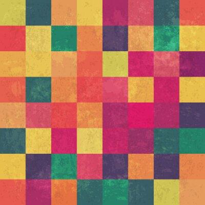Fototapeta Retro squary kolorowe tło wektor rocznika