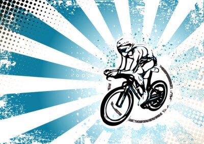 Fototapeta retro tle plakatu na rowerze