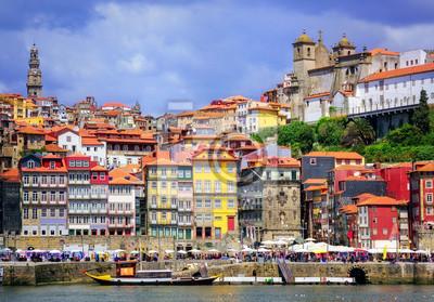Fototapeta Ribeira, starego miasta Porto, Portugalia
