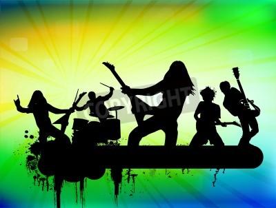 Fototapeta Rock band illustration