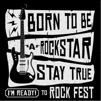 Fototapeta Rock Music Festival Vector T Shirt lub ilustracja plakatu