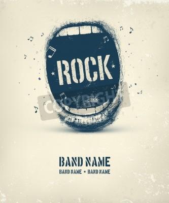 Fototapeta Rock music plakat, eps 10