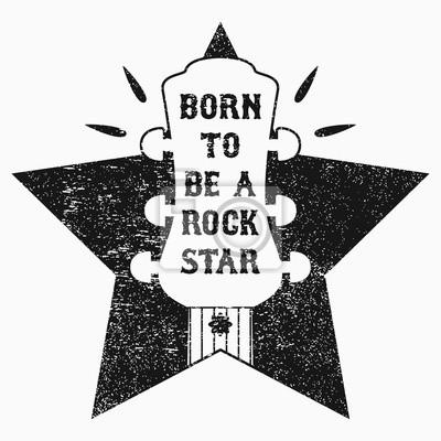 Fototapeta Rock N Roll Muzyka Grunge Na T Shirt Ubrania Odzież Plakat