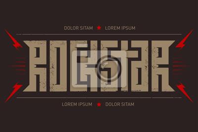 f7a47c26d Fototapeta Rock Star - projekt koszulki. T-shirt strój fajny nadruk.  Rockstar -