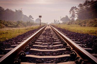 Fototapeta rocznika kolejowej