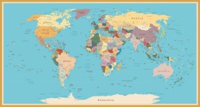 Fototapeta Rocznika mapie świata