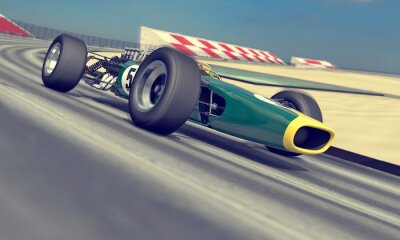 Fototapeta rocznika racer