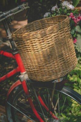 Fototapeta Rocznika rower z koszem