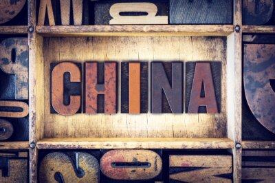 Fototapeta Rodzaj Chiny Koncepcja typograficznego