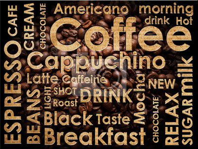 Fototapeta rodzaje kawy tle