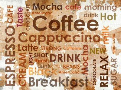 Fototapeta rodzaje kawy z plamy mleka