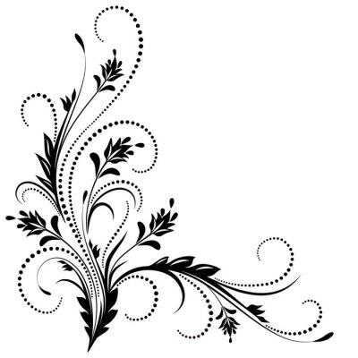 Fototapeta rogu dekoracyjny ornament