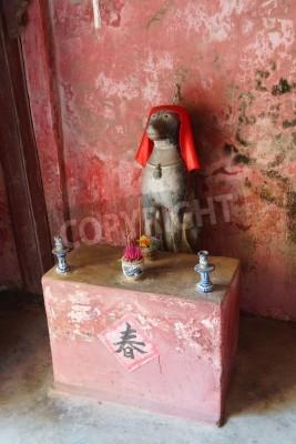 Fototapeta Rok sanktuarium Dog wewnątrz japoński Covered Bridge, Hoi An, Wietnam