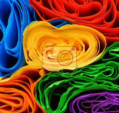 Fototapeta Rolki papieru kolorowego różnych
