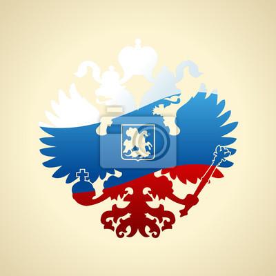 Fototapeta Rosyjski herb dwugłowy orzeł. Symbolem imperialnej Rusi