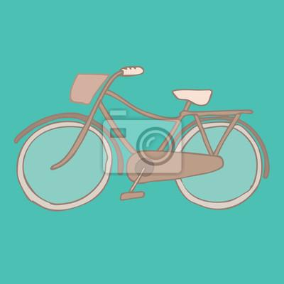 Fototapeta rower, rower retro ilustracji, rocznika rower