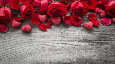 Fototapeta Róże na desce