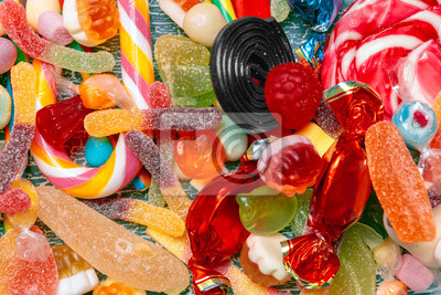 Fototapeta Różne kolorowe cukierki owocowe