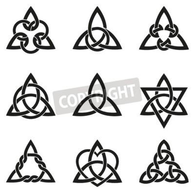 Różnorodność Stosowanych Do Węzłów Celtyckich Dekoracji Lub Tatuaże