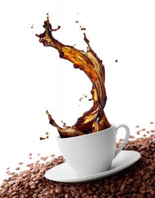 Fototapeta rozpryskiwania kawy