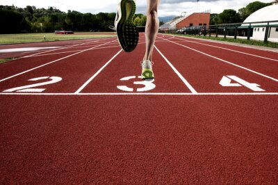 Fototapeta Run na torze sportowym