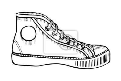c770769024a52 Rysowane ręcznie szkicu butów sportowych Fototapeta • Fototapety ...