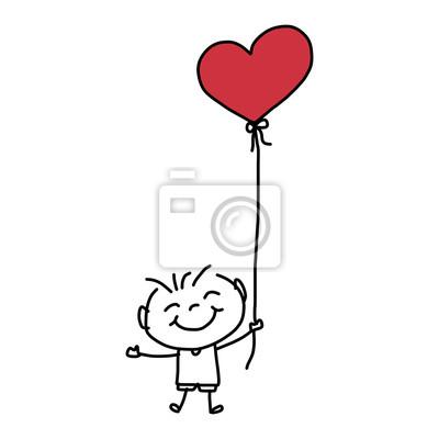 Rysunek rysunek ręka szczęście Fototapeta • Fototapety odręczne, moment,  pozytywny | myloview.pl