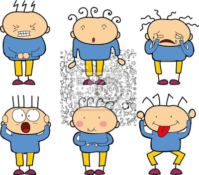 Rysunki Dzieci Doodle Emocji Ludzi Fototapeta Fototapety Krowa
