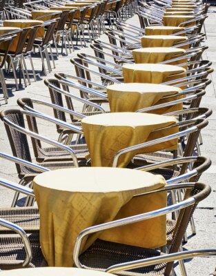 Fototapeta rzędy krzeseł