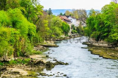 Fototapeta Rzeka Aare w Brugg City w Szwajcarii