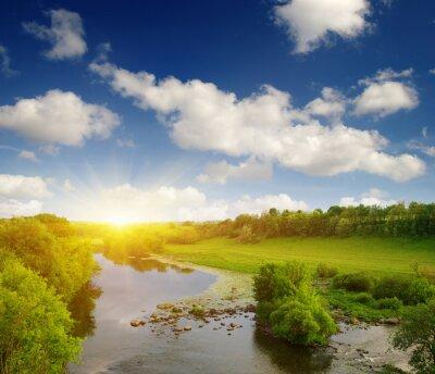 Fototapeta Rzeki na słońcu