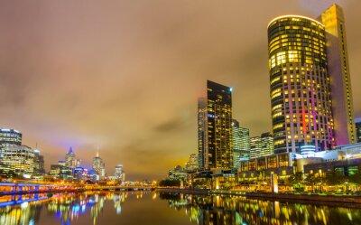 Fototapeta Rzeki Yarra i Melbourne skyline.