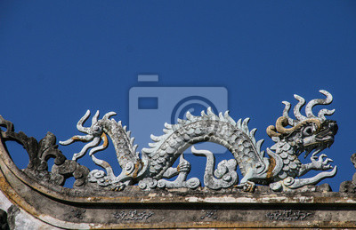 Fototapeta rzeźba w starożytnego miasta Hoi An, Wietnam