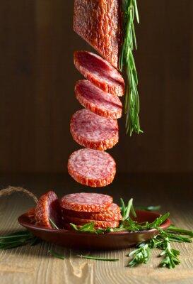 Fototapeta salami z rozmarynem