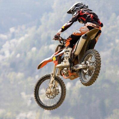Fototapeta salto con moto da krzyż