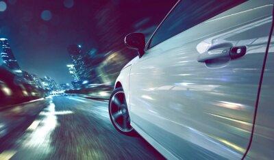 Fototapeta Samochodów w nocy