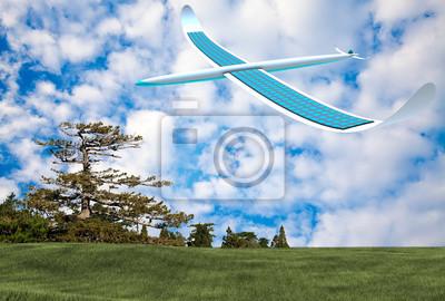 Fototapeta Samolotem energia słoneczna