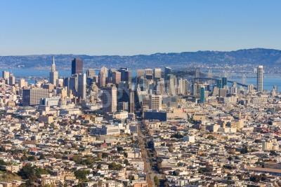 Fototapeta San Francisco Downtown widziana z Twin Peaks