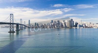 Fototapeta San Francisco Panorama z mostu Bay