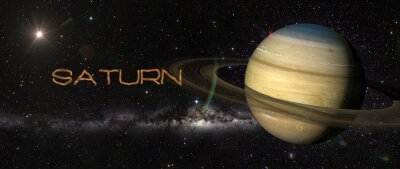Fototapeta Saturn Planet w przestrzeni kosmicznej.