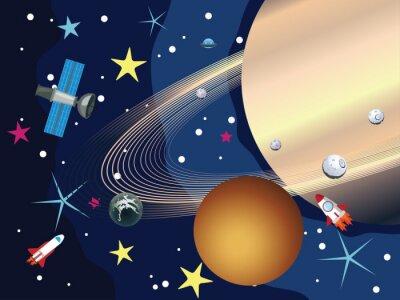 Fototapeta Saturn w kosmosie