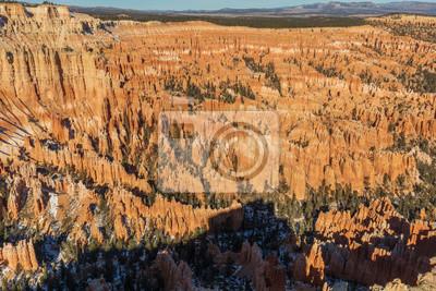 Fototapeta Scenic Winter Landscape in Bryce Canyon Utah
